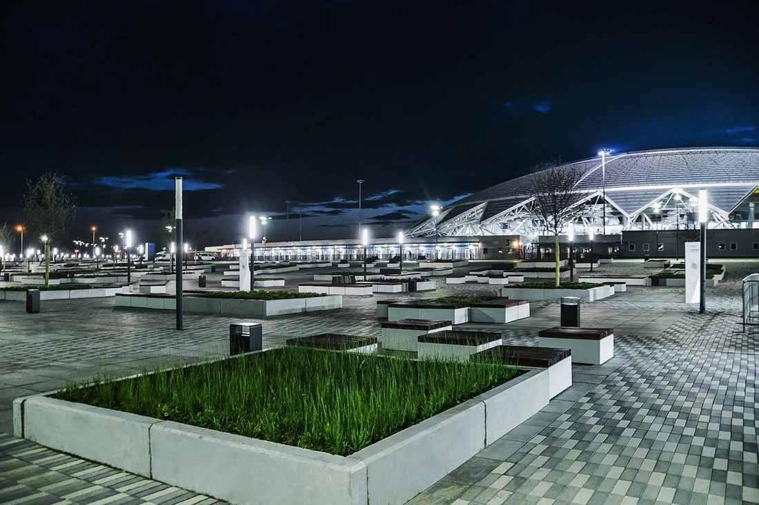 Проект: освещение Арены-Стадиона Демократическая г.Самара - Svetilniki-Opory