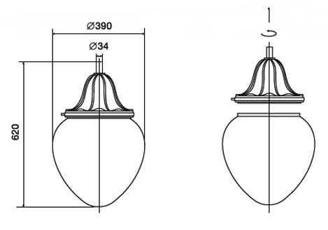 Светильники серии V.35 (V.33) «Капля» 1