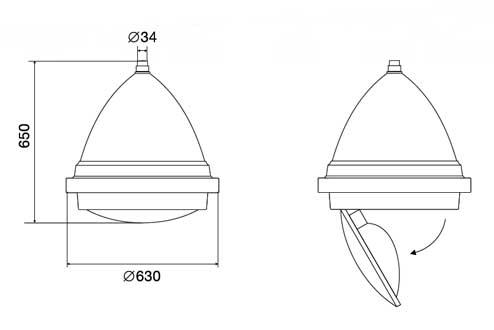 Светильники серии V.43 (V.46 и V.50) 2
